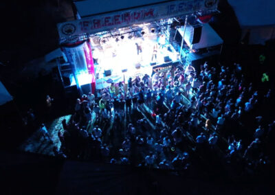 Aerial View of Freedom Fest at Night