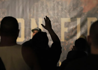 Hand in Praise at Men on Fire